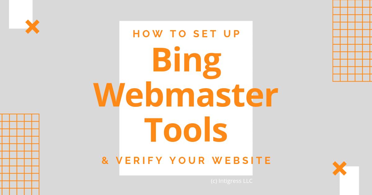 How to Set Up Bing Webmaster Tools Blog Header