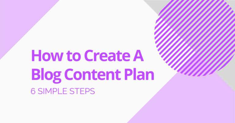 How to Create A Blog Content Plan Blog Header Image