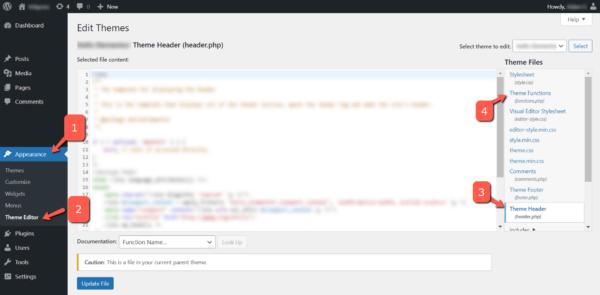 Wordpress Theme Editor